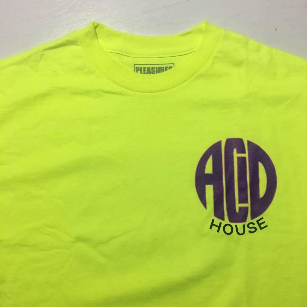 PLEASURES Acid House LS T-Shirt Green