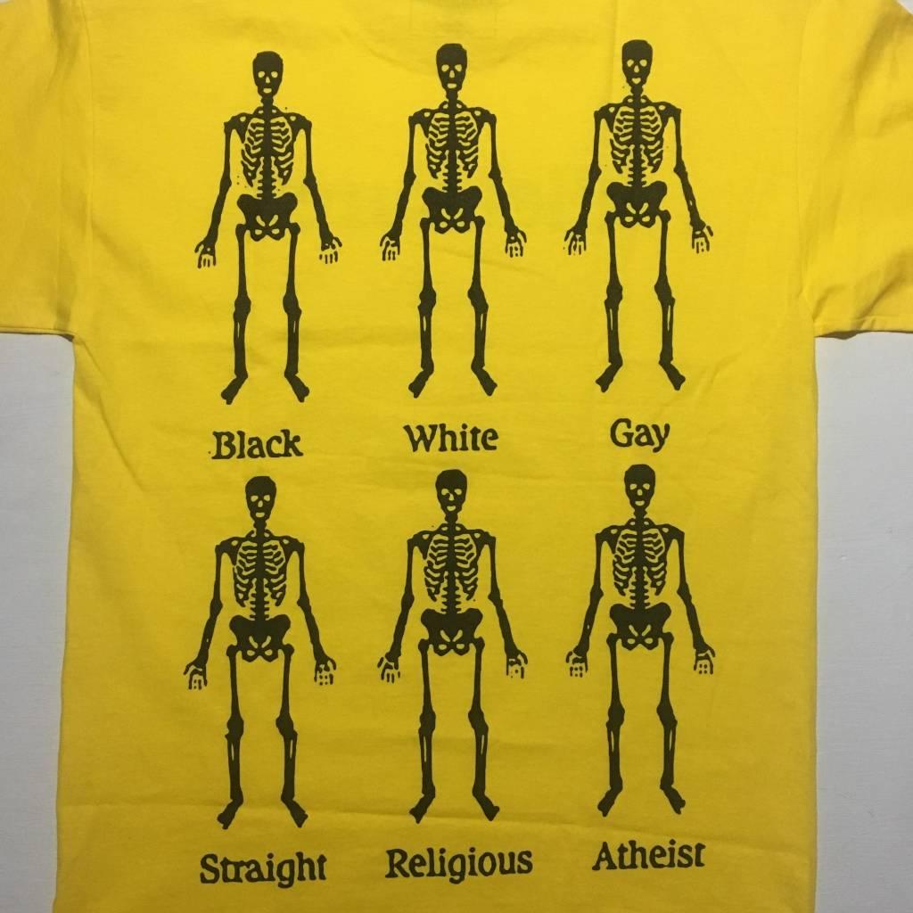 PLEASURES Bones T-Shirt Yellow