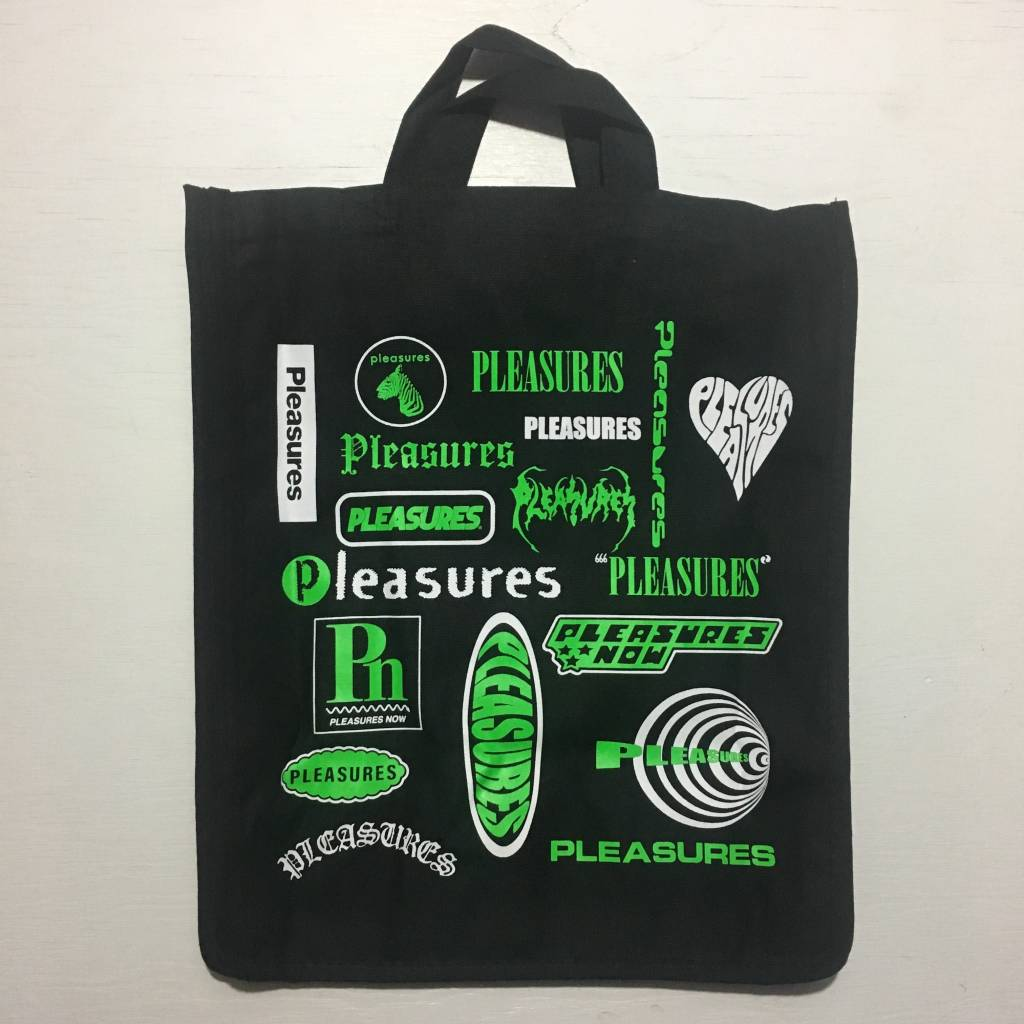 PLEASURES Logorama Tote Bag Black