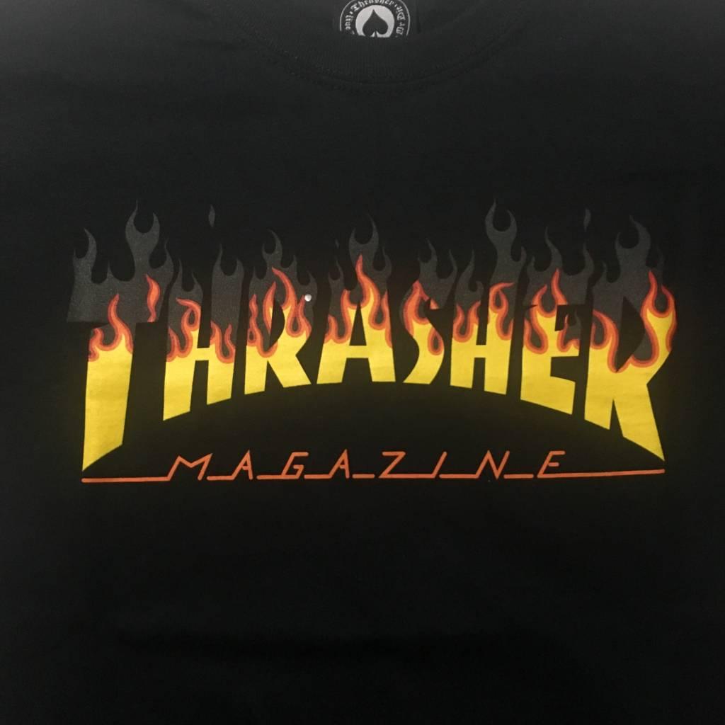 THRASHER MAGAZINE Thrasher BBQ T-Shirt Black