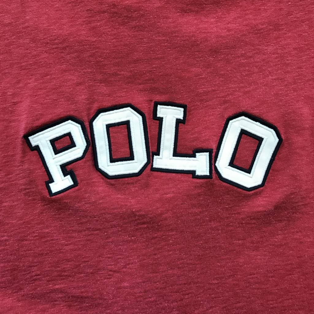 2ND BASE VINTAGE Polo Sport 1/4 Zip Polo Shirt Red LG