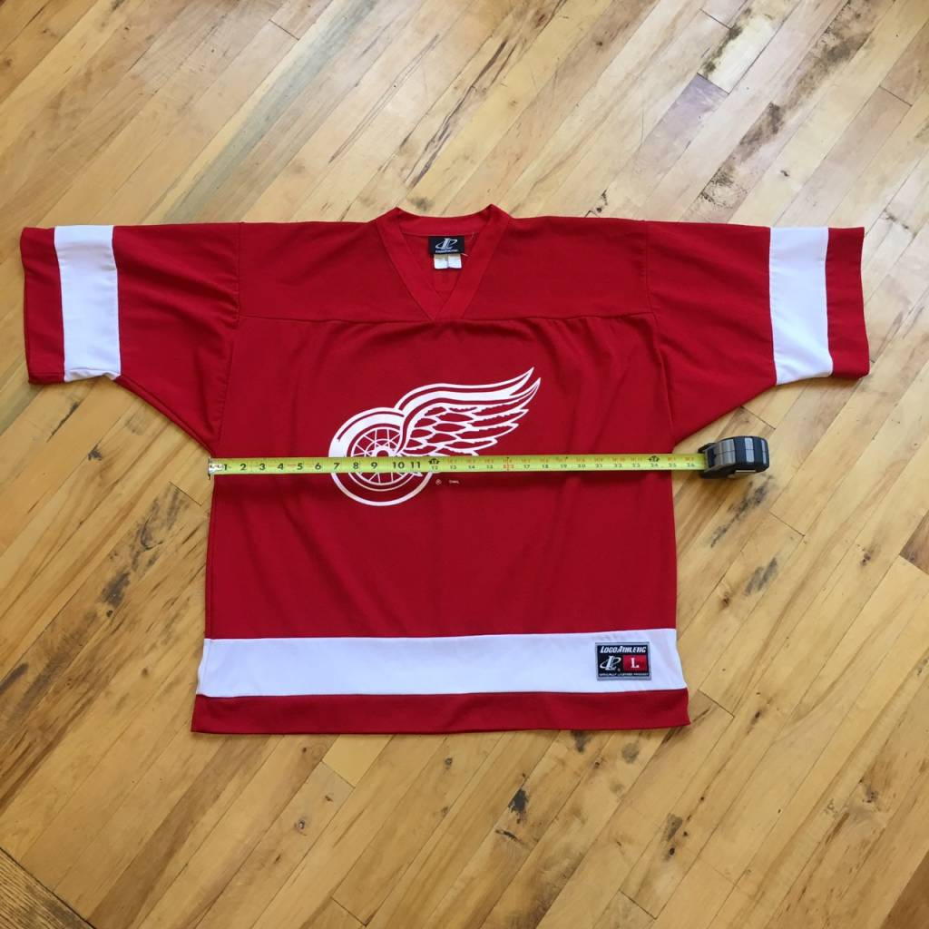 2ND BASE VINTAGE Logo Athletic NHL Detroit Red Wings Fedorov 91 Jersey