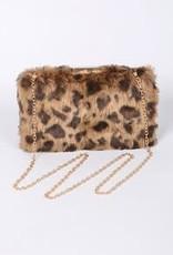 Bag Boutique Fun Fur Hard Clutch