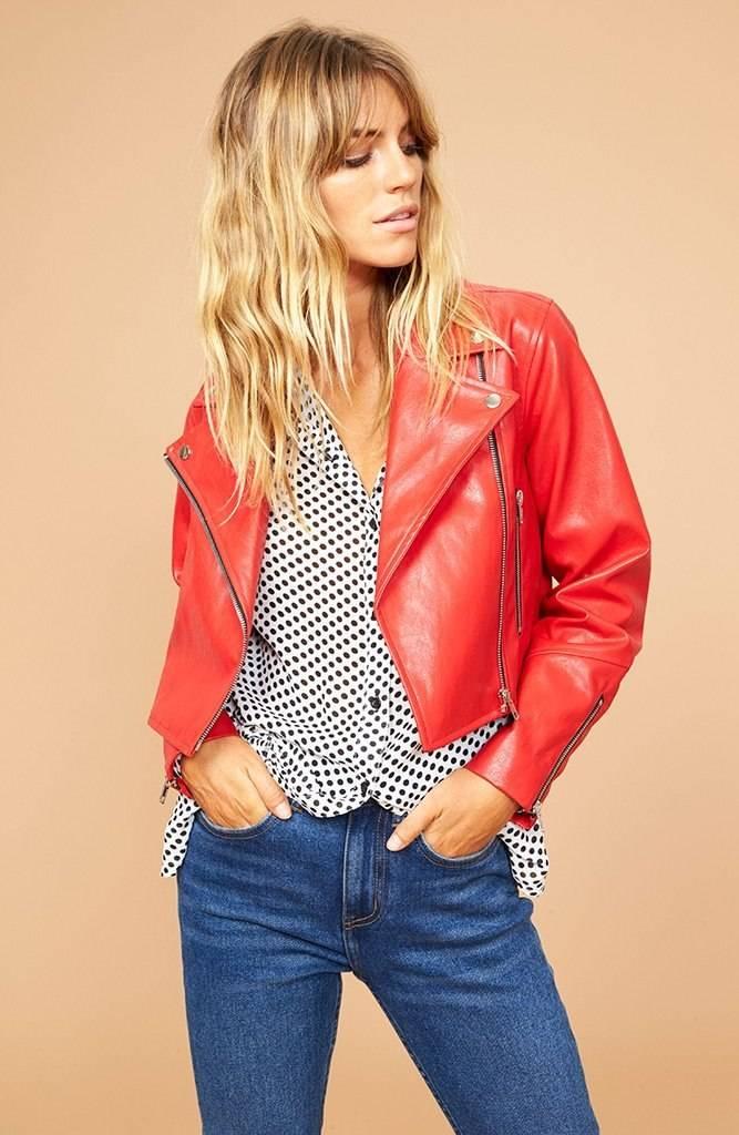 Mink Pink Nightrider Biker Jacket
