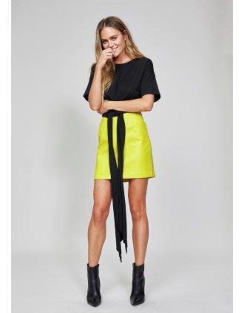Mink Pink Knot Front Tee