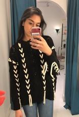 Elan Tie Up 2 Tone Sweater