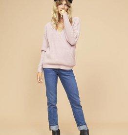 Mink Pink Carmen Wrap Front Sweater