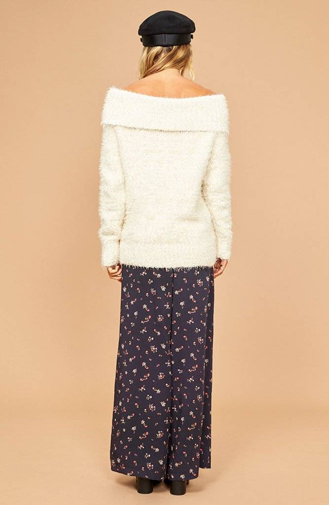 Mink Pink Teacup Off Shoulder Sweater