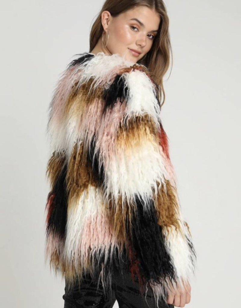 Mink Pink Making History Fur Coat