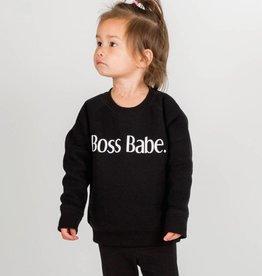 Brunette Boss Babe Kids Crew