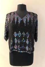 White Rabbit 6 of Clubs Sequinned Top