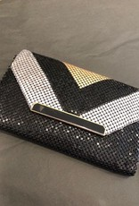 White Rabbit 8 of Clubs Mixed Metal Clutch