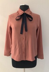 White Rabbit 10 of Clubs Bow Blouse