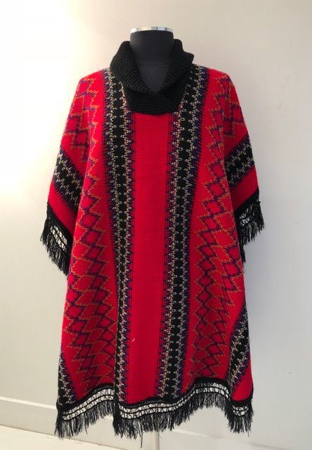 White Rabbit Ace of Hearts Poncho