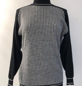 White Rabbit 2 of Hearts Houndstooth Sweater
