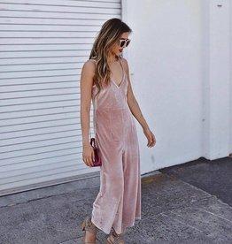 Mink Pink Velvet Jumpsuit