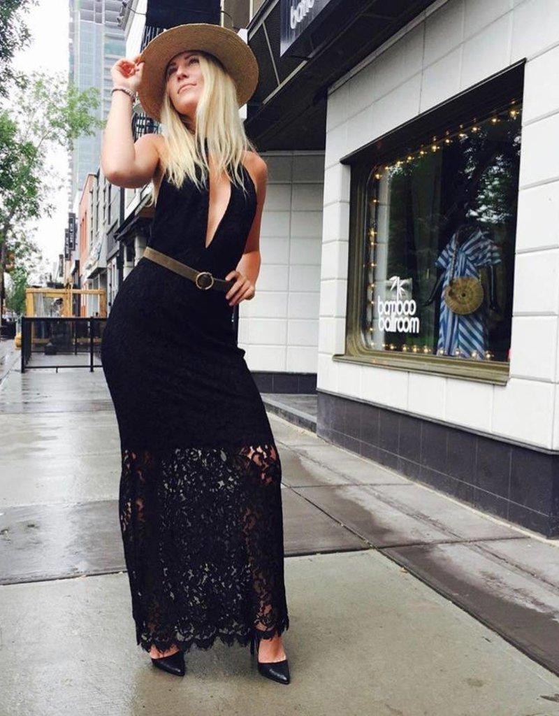 BB Dakota Deep V long dress