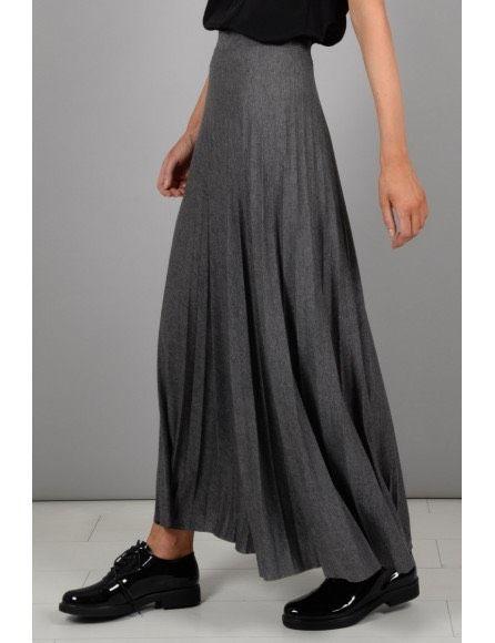 Molly Bracken Molly Bracken Knitted Skirt Premium Grey WT06A18