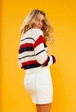 Mink Pink Stripe Knit Sweater