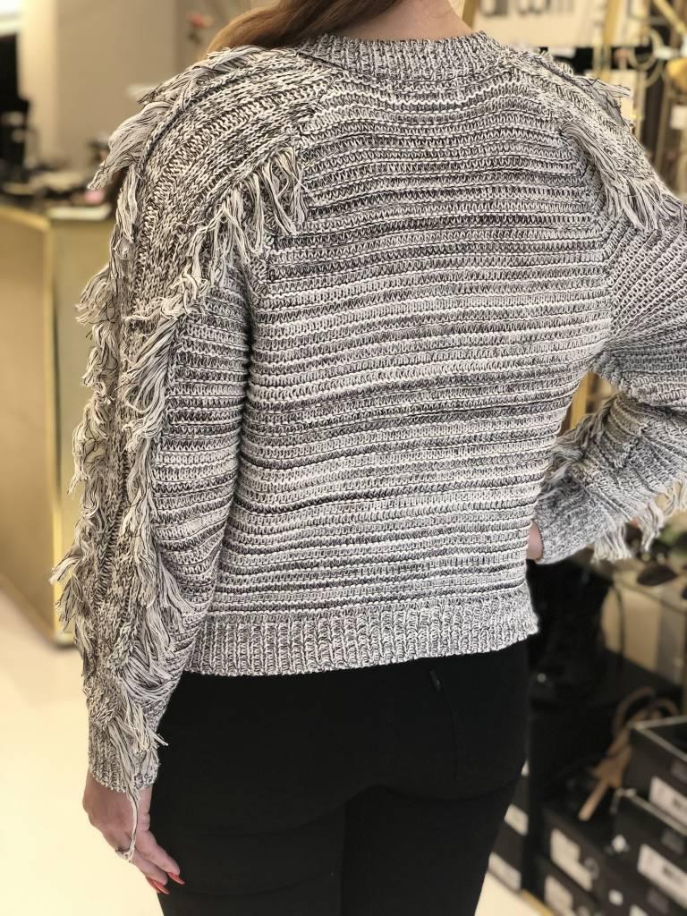 JOHN + JENN Dali Fringe Sweater