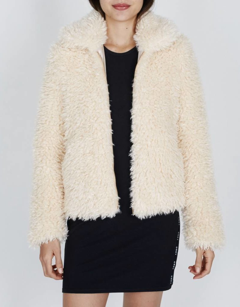 OBEY Shay Fur Bomber Jacket