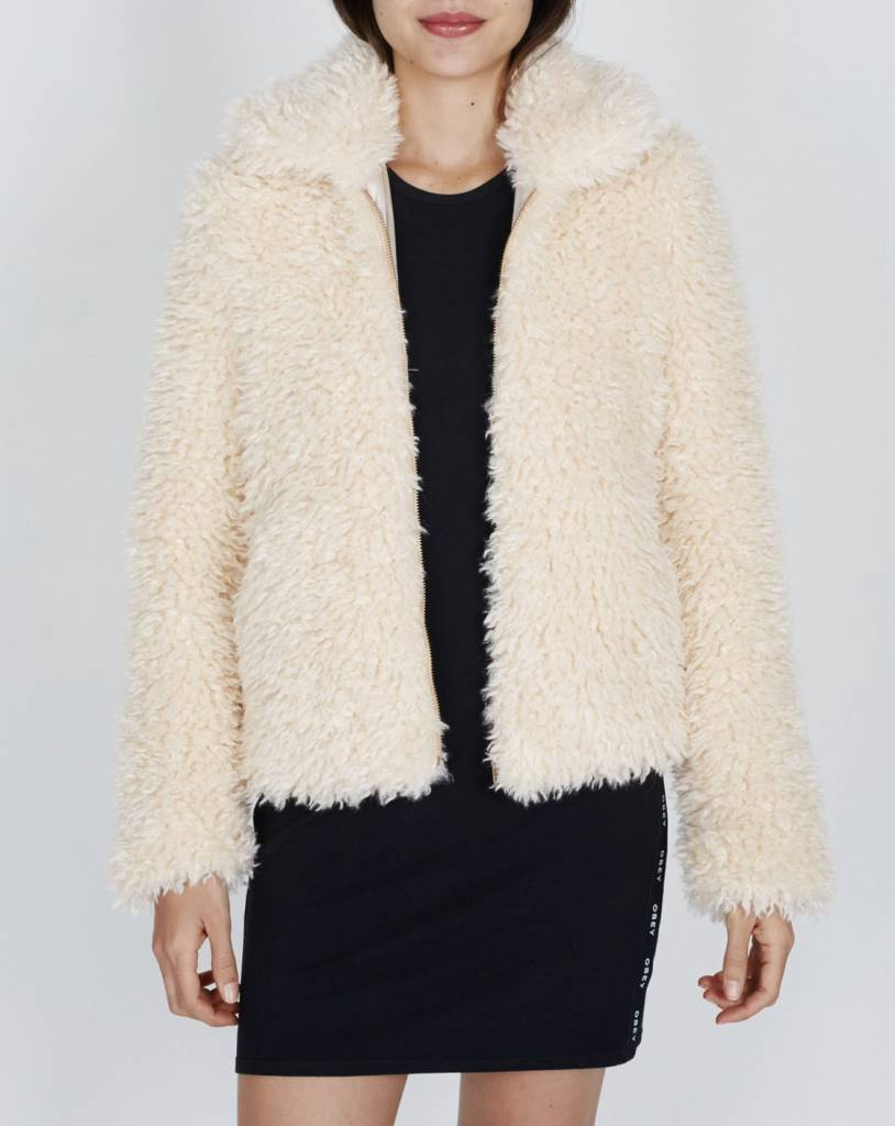 OBEY Shay Fur Bomber Jacket