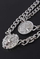 Ernest & Kelly Lion & Coin Statement Necklace