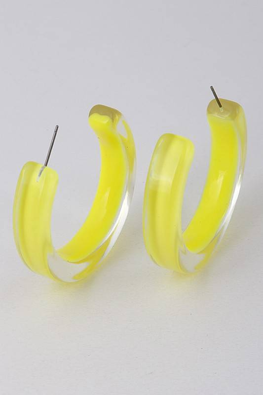 Ernest & Kelly Neon Lucite Hoops