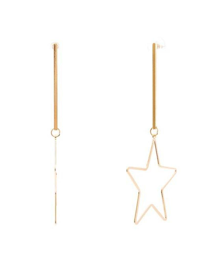 Ernest & Kelly Star Drop Earrings