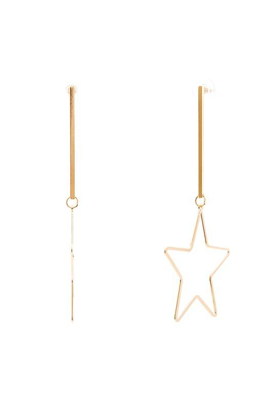Ernest & Kelly Star Drop Earrings