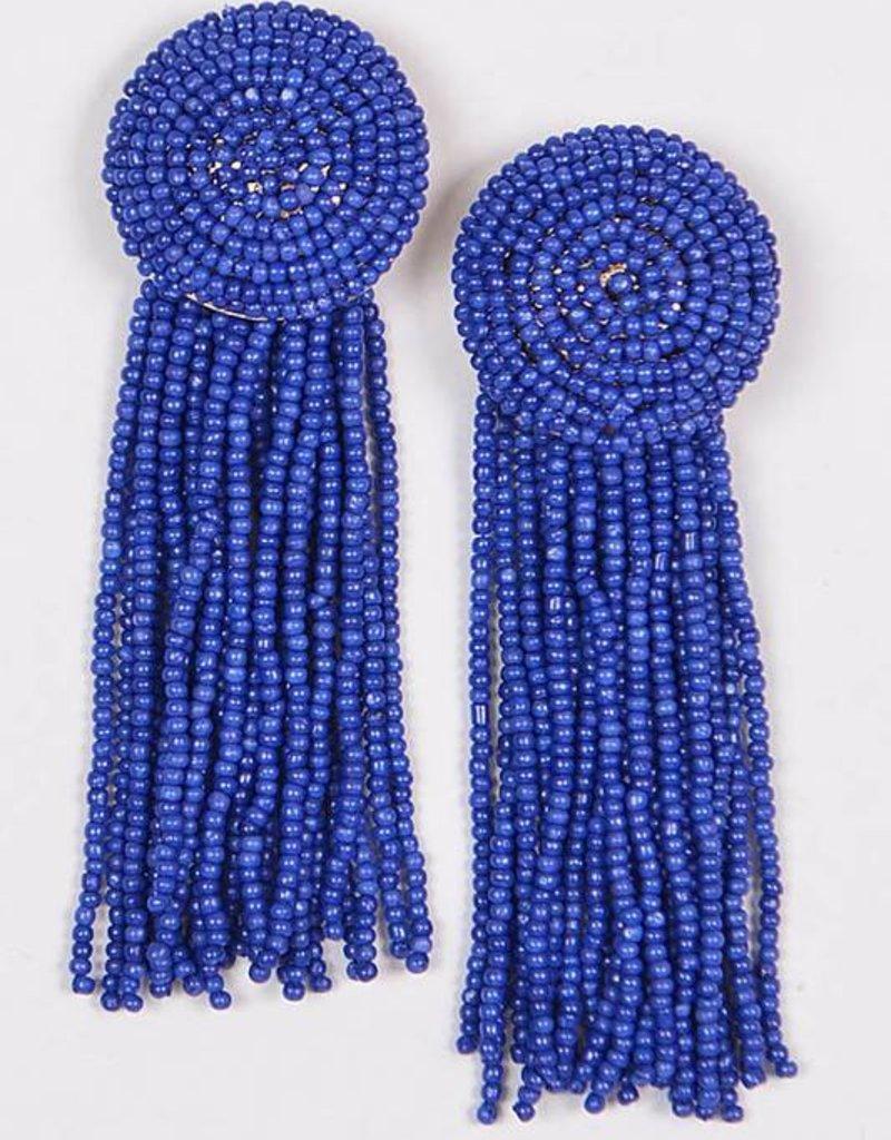 Ernest & Kelly Beaded Fringe Earrings