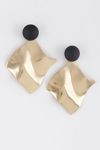 Ernest & Kelly Curved Mixed Metal Earrings