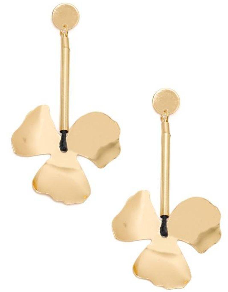 Capsule Gold Flower Earrings