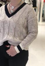 JOHN + JENN Pierce V Neck Sweater