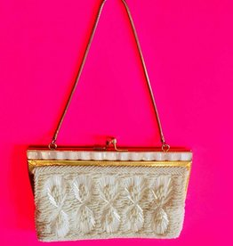 Mother Of Pearl Clutch - Cream