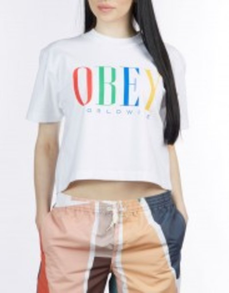 OBEY Chess King Cropped Tee