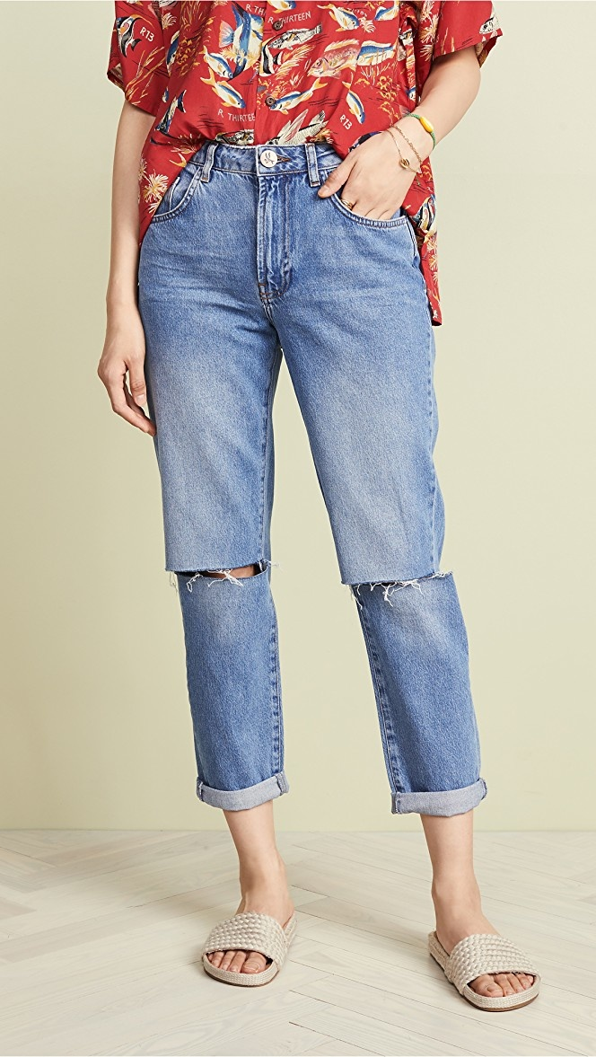 One Teaspoon Awesome Baggies High Waist Straight Leg