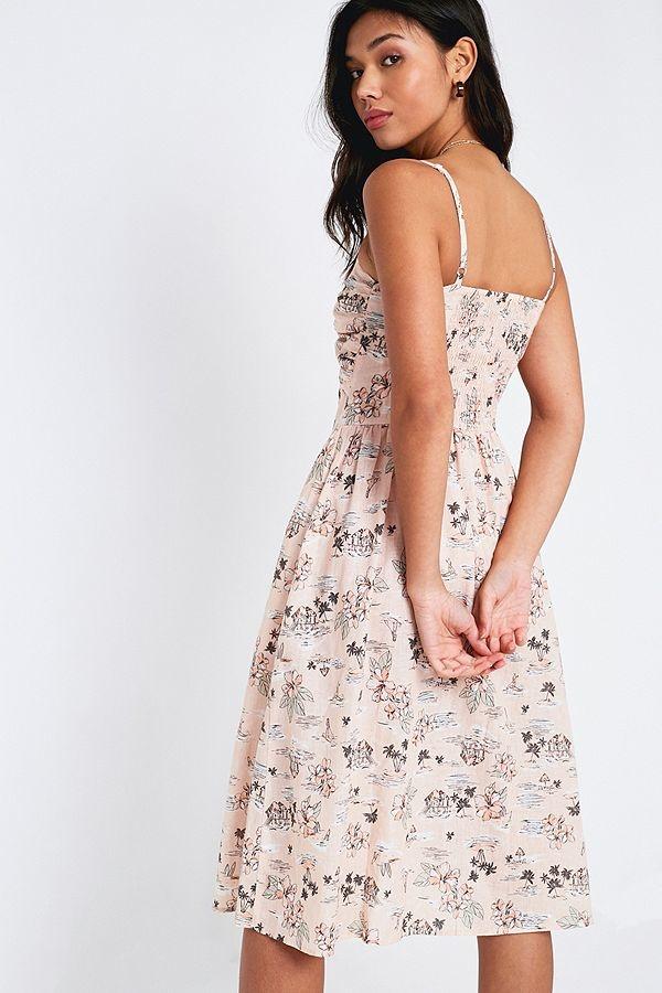 Mink Pink Tropical Tides Midi Dress