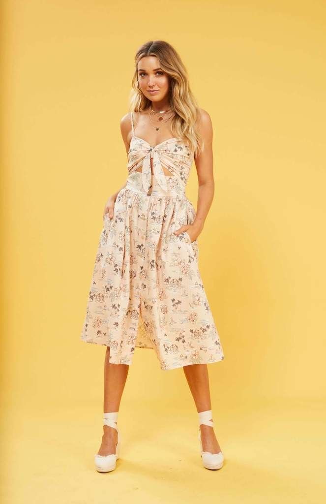 Mink Pink Tropical Tides Midi Dress
