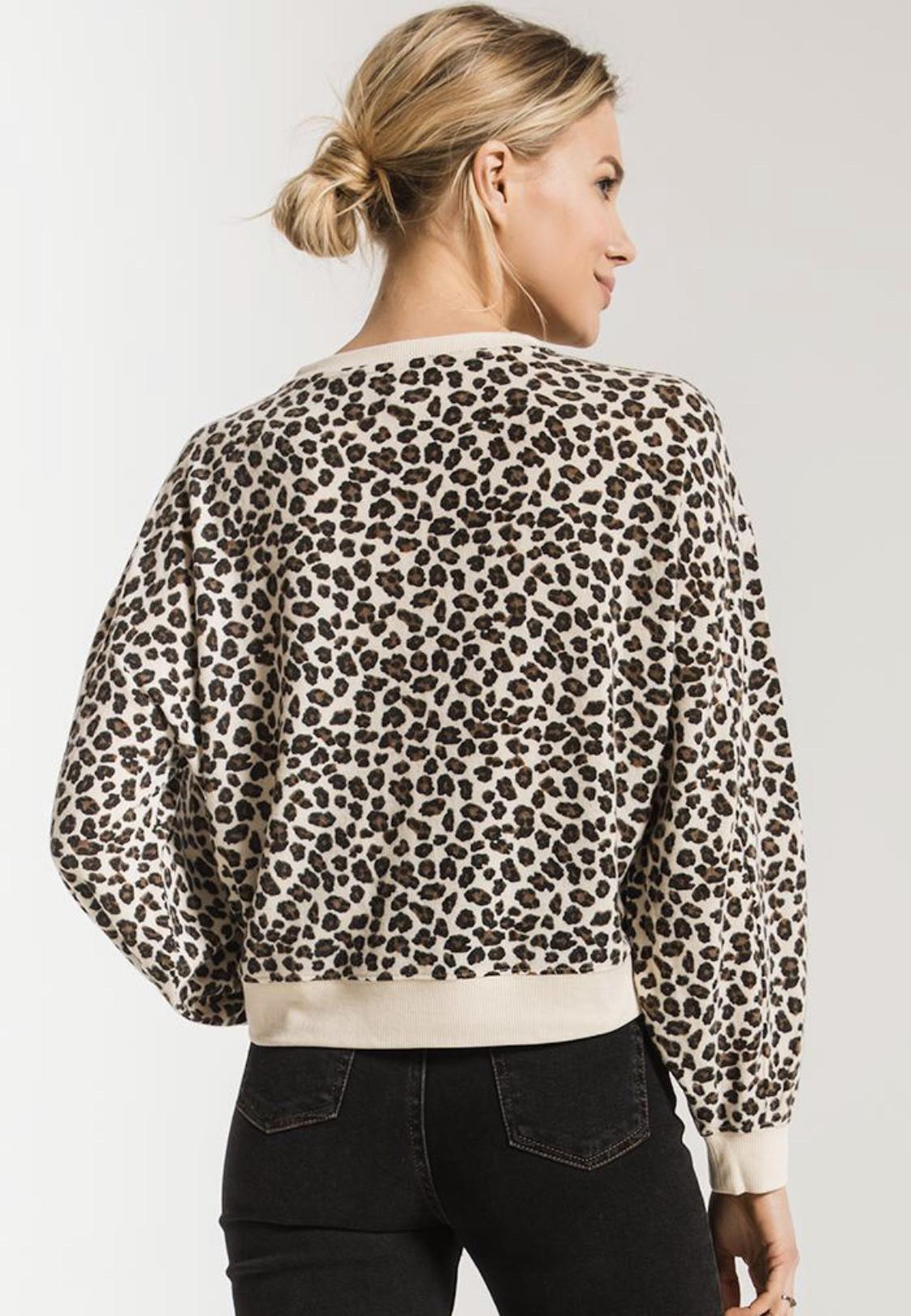Z Supply Leopard Super Soft Sweater