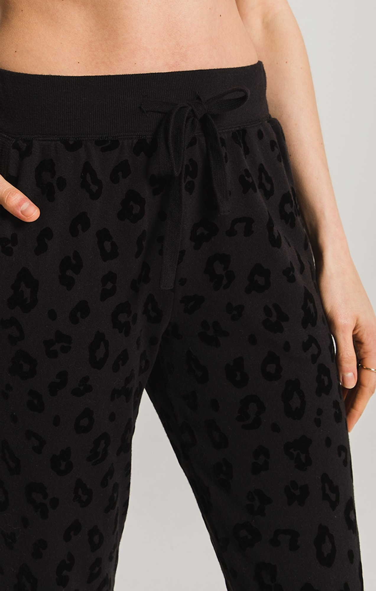 Z Supply The Leopard Flocked Jogger