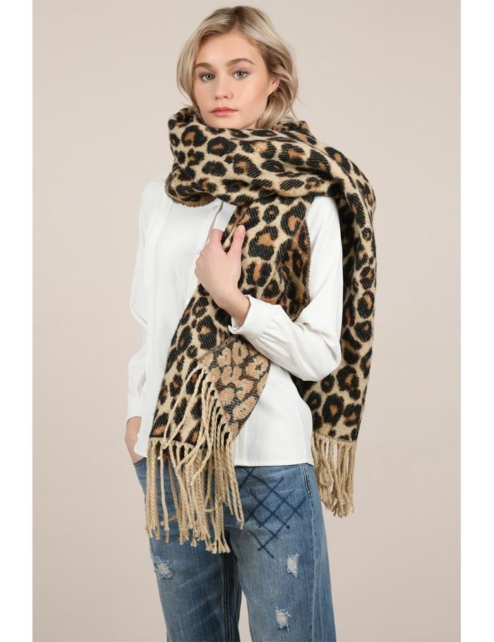 Molly Bracken Leopard Blanket Scarf