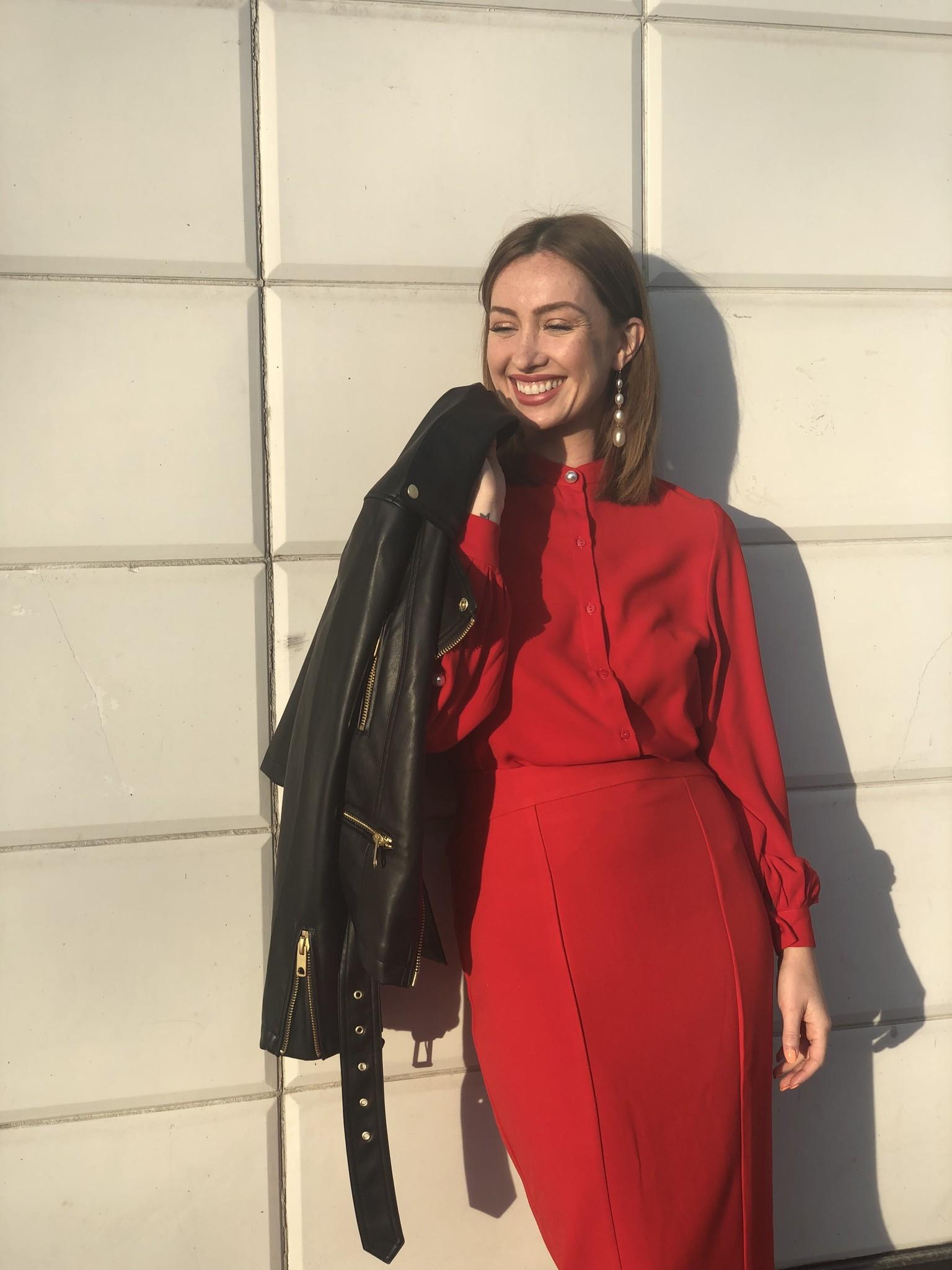 Molly Bracken Zip Up Midi Skirt