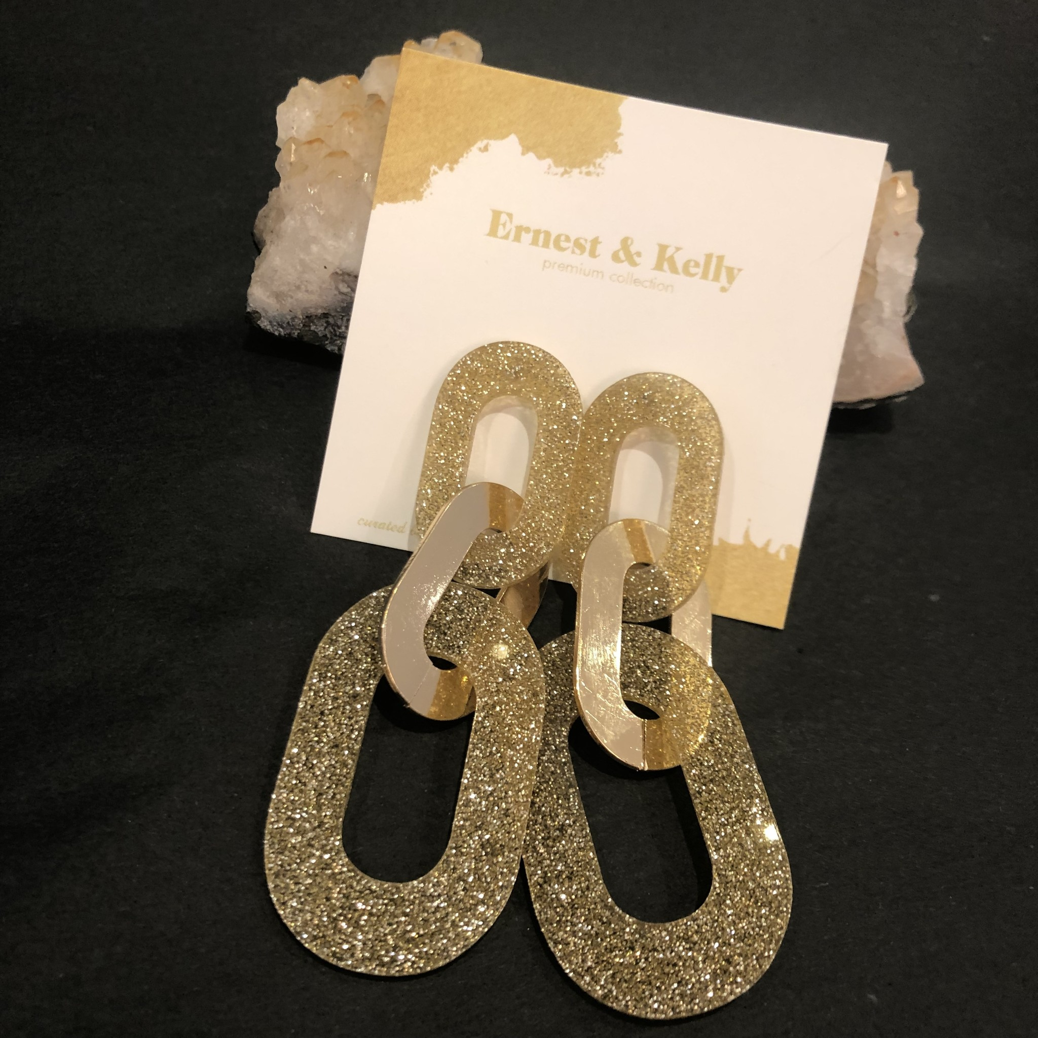 Ernest & Kelly Sasha Glitter Earrings