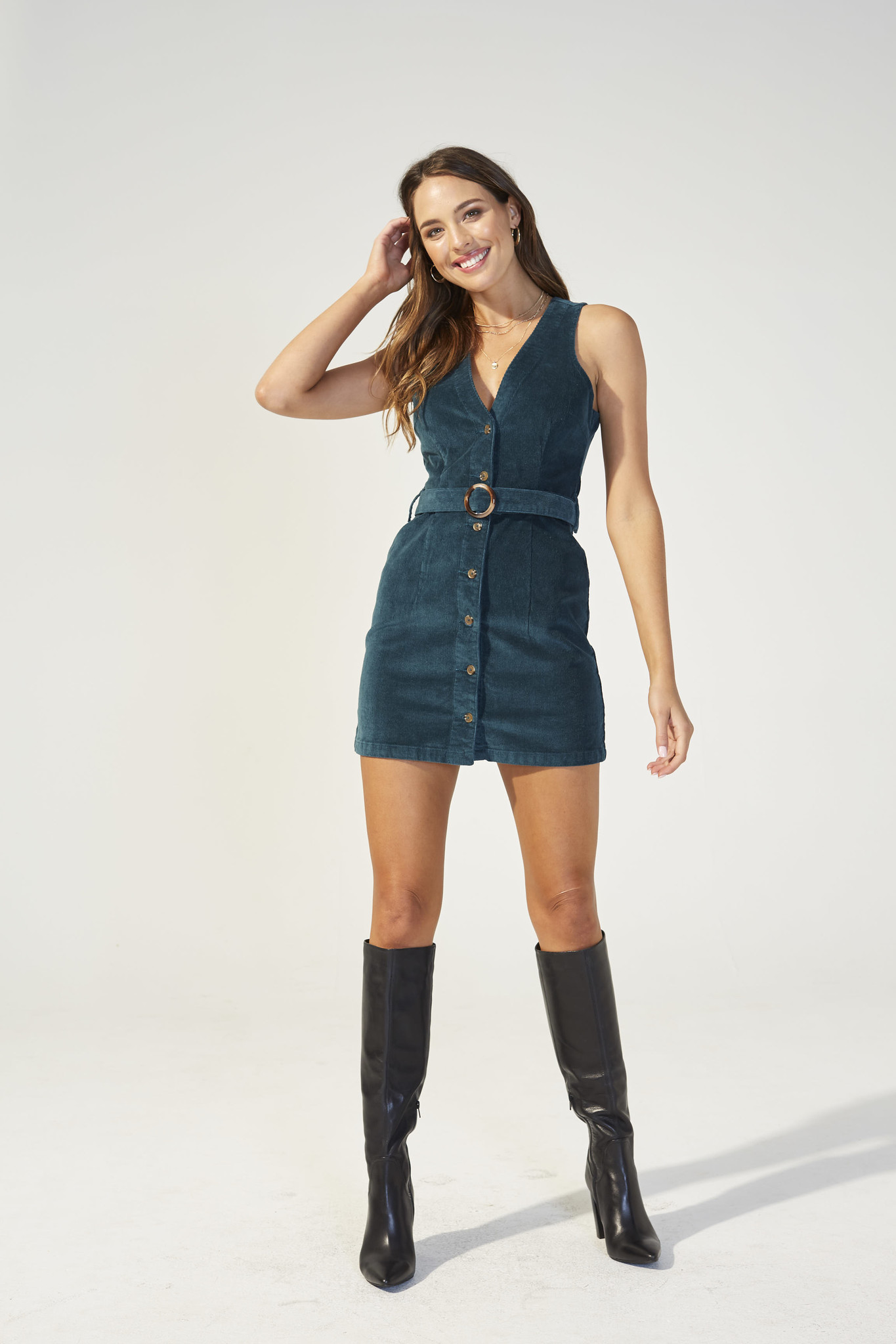 Mink Pink Get To Know You Cord Dress
