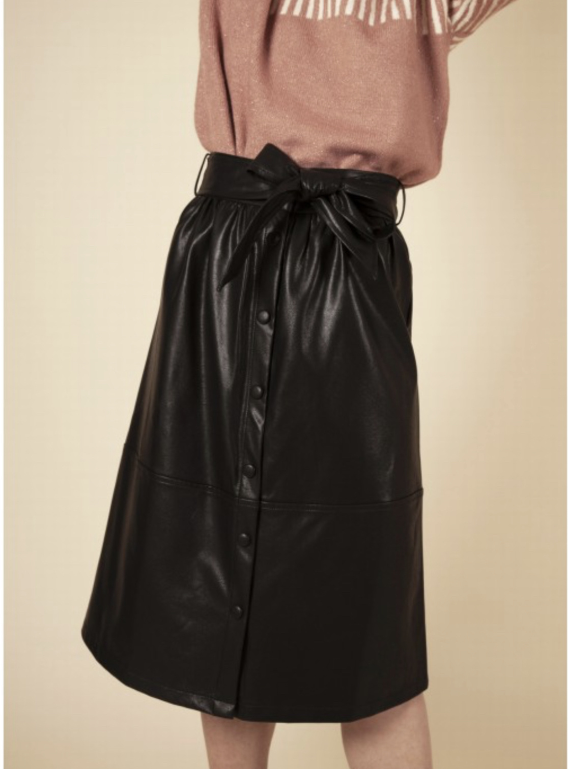 FRNCH Ermine - Vegan Leather Skirt