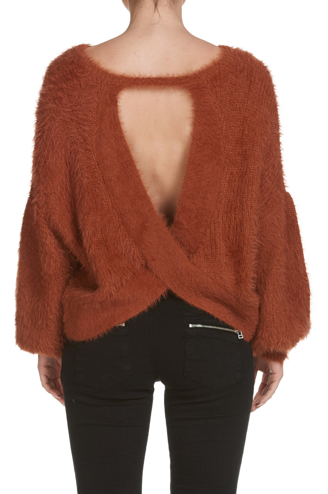 Elan Crossed Back Sweater