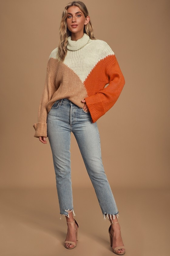Mink Pink Color Block Knit