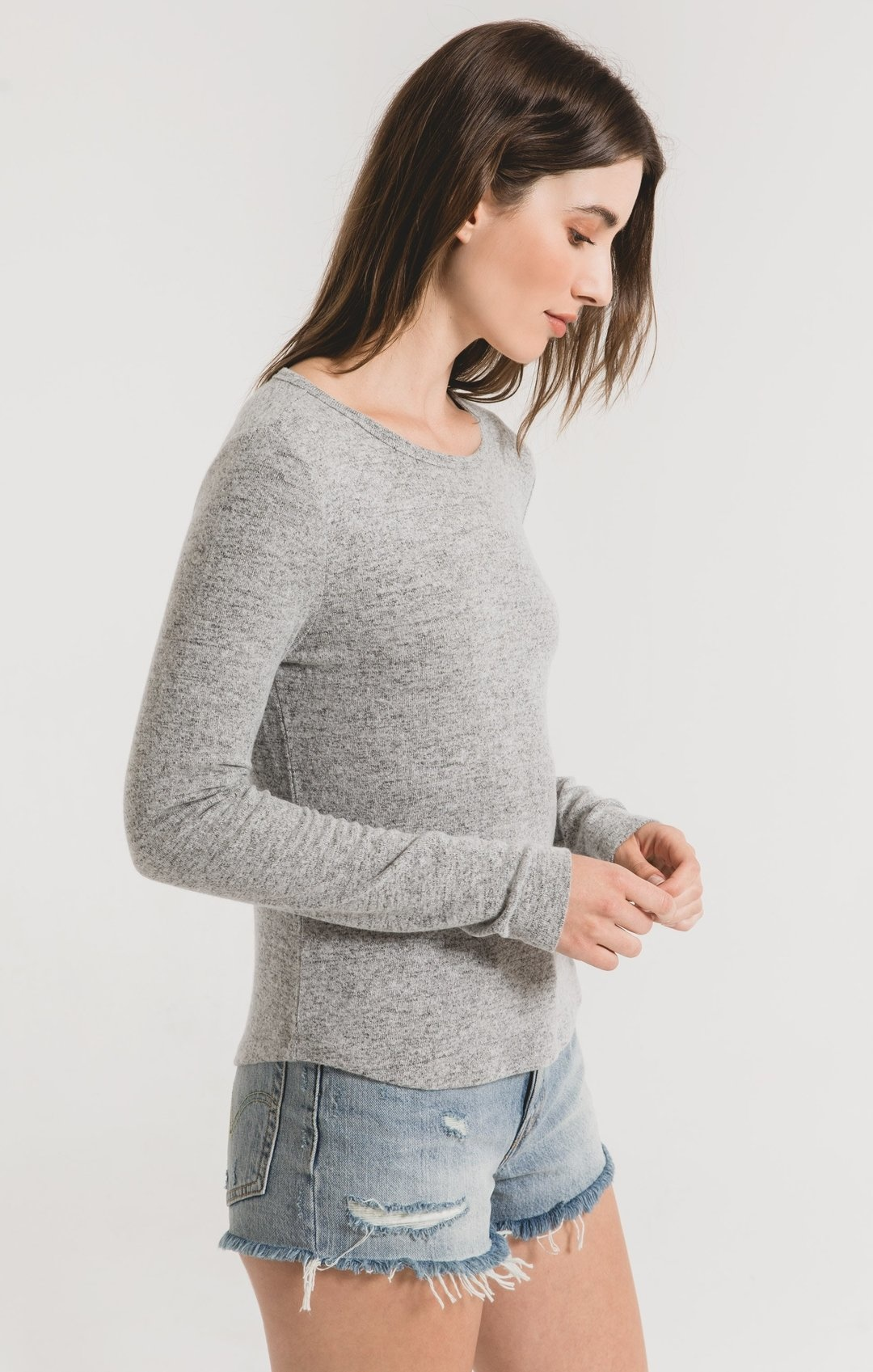 Z Supply The Marled Fitted Top
