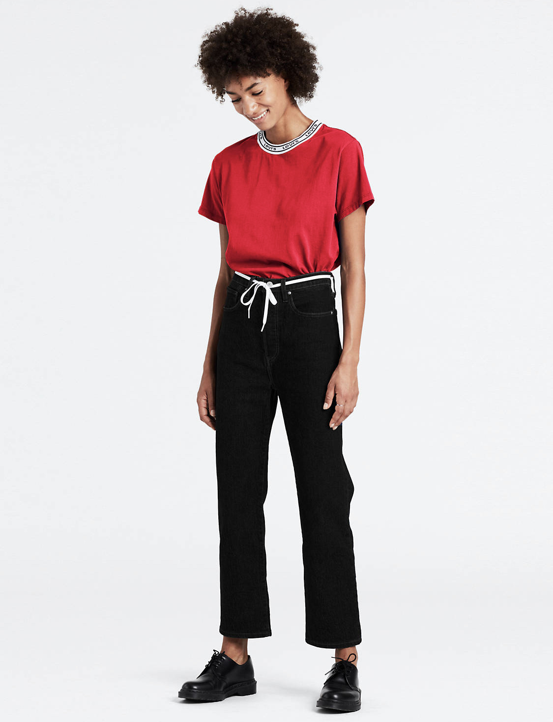 Levi's Black Heart Ribcage Straight Ankle